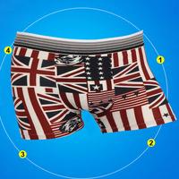 Boxers BS002 Hot Sale High Quality Flag Men Boxer Shorts leopard-print Men's Sexy Underwear Cotton cartoon Men Boxer Shorts