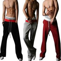 Hot Men's Casual Sport Pants Harem Training Dance Baggy Jogging Trousers Slacks Drawstring Yoga Full Length Pants Free Shipping