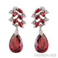 2014 New design Swiss Zircon Dangle Earrings exaggerated Austrian Crystal women's Drop earrings 1 pair MOQ long earrings(FE-56)