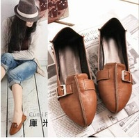 new 2014 fashion design women casual leather shoes soft bottom flats for woman flat heel loafers size 35-43 free shipping 0184