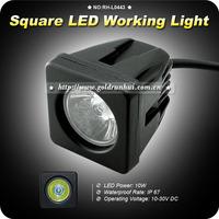 2X 10W CREE LED WORK LIGHT SQUARE SPOT DRIVING LAMP 4X4 OFFROAD SUV 4WD12V/24V