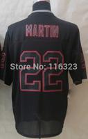 2014 Men's Football Jersey Doug Martin #22 Lights Out Black Elite Sprots Jerseys Size:40~56+Free Shipping,Mix Order