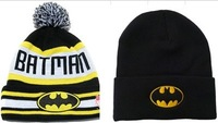 2014 freeshipping letter adult active unisex cotton bonnets hat batman beanie bboy outdoor knitted prevent skullies hats cap