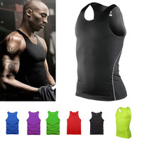 Men Vest Fitness Clothes Compression Body Armour Wear Base Layer Tank Top Vest Under Shirt Tops Skin Jersey S-XXL Boy Gilet