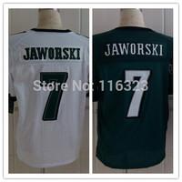 2014 Men's Football Jersey  Ron Jaworski #7  Elite Sprots Jerseys-Green,White Size:40~56+Free Shipping,Mix Order