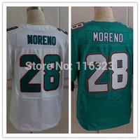 2014 Men's Football Jersey  Knowshon Moreno #28 Elite Sprots Jerseys-Green,White Size:40~56+Free Shipping,Mix Order