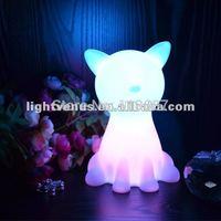 Romantic newly developed cat shaped home decoration LED motion sensor light