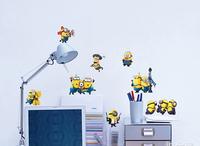 2014 Fashion Minion Cartoon Wall Sticker, Eco-friendly PVC Wall Sticker  Despicable Me II Free Shipping 30*60cm
