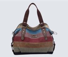 K-988 high quality Fashion women Bags Canvas Super patchwork canvas bag Shopping  Handbag Casual Shoulder Bag w52