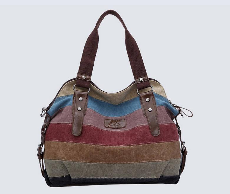 K-988 high quality Fashion women Bags Canvas Super patchwork canvas bag Shopping Handbag Casual Shoulder Bag w52(China (Mainland))