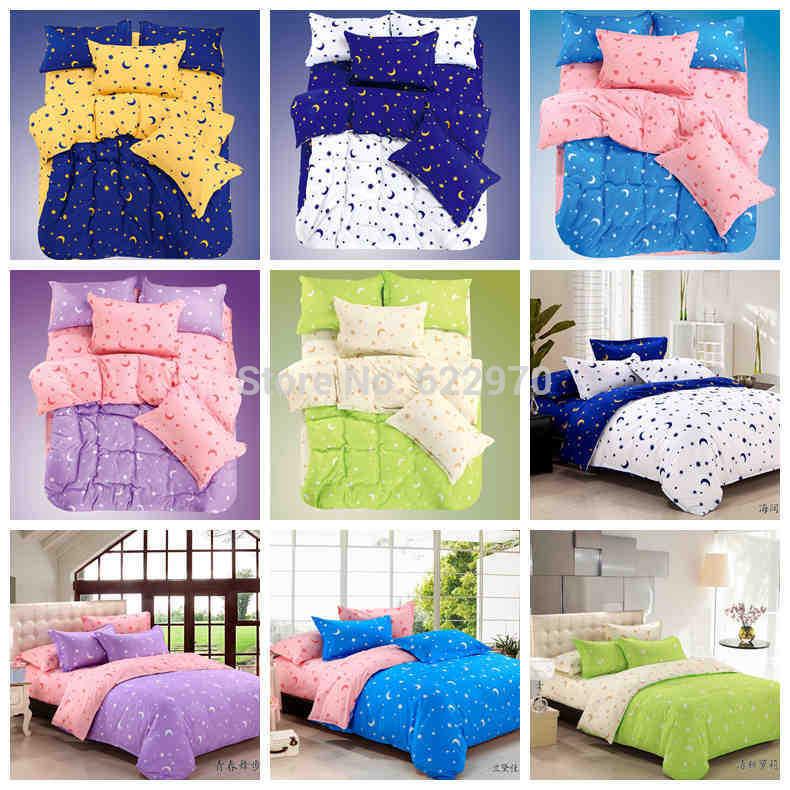 Grátis frete jogo de cama de algodão 4 pcs capa de edredon fronha(China (Mainland))