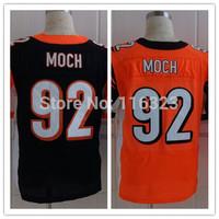 2014  Men's Football Jersey  Dontay Moch #92 Elite Sprots Jerseys-Orange,Black Size:40~56+Free Shipping,Mix Order