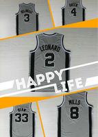 A+++ new 2014 USA  San Antonio grey men basketball jerseys  Kawhi Leonard Boris Diaw Patty Mills Danny Green Marco Belinelli