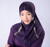 Muslim hijab headscarf stitching covers the Middle East Arab Muslim Islamic clothing hijab scarf stretch 60-80 echarpes