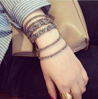 2014 New Fashion Black Bow Knot Exquisite Rhinestone Bracelets For Women
