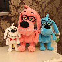 1pcs  New 2014 HOT! 26CM medium size  Mr. Peabody & Sherman Glasses Dogs Plush toys pp cotton free shipment lovely child toys