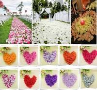 New 1000 pcs/Set Fabric Silk Flower Rose Petals Wedding Party Decoration 3*3cm