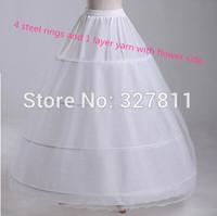 4 hoop skirt wedding dress petticoat