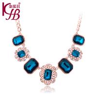2014 New Fashion  Rhinestone  Chain Flower Statement Necklaces & Pendants Women Jewelry Gift