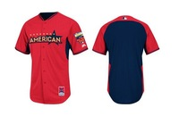 2014 All Star Baseball Jerseys Americanl Blank Jersey Red Blue Color Cool Base Jersey Stitched Size 48-56 Mix Order