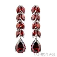 2014 New design Swiss Zircon Dangle Earrings exaggerated Austrian Crystal women's Drop earrings 1 pair MOQ long earrings(FE-75)