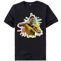 James Rodriguez T-shirt Men Football Game Star NO.10 World Cup Printed watercolour comic Tshirs Men's Clothing Casual
