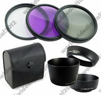 58MM FLD UV CPL Filter Kit  Set   + ET-60 + ES-62  EW-60C Lens Hood  FOR  Canon EOS  EF 28-80mm
