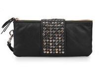 new arrive Hot selling PU Leather fashion designer Rivet bag women wallet Bag fashion women's clutches bg-0140