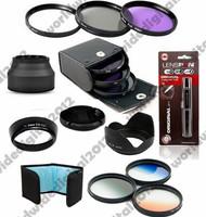 Graduated Grey Filter set +  58MM FLD UV CPL Filter Kit + EW-60C   Lens Hood  + Bag For Canon EOS  EF 55-250mm 58 mm