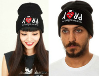 2014 new arrival new pray you garcon of a bitch beanie bboy outdoor knitted prevent skullies beanies, hats caps ,adjustable