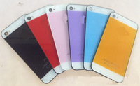 With Logo ! Color Glass Battery Back Housing Cover Replacement for Apple iPhone 4S