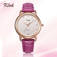 Fashion casual 2014 genuine leather watches women dress watches rose gold plated dial crystal diamonds wristwatch