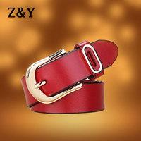 New Arrival Women's Vintage Belt 100% Genuine Leather All-Match Belt For Women Good` Quality 6 Colors BT011