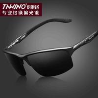 New sunglasses Men sunglasses sports car driver to drive aluminum and magnesium sunglasses men polarizer