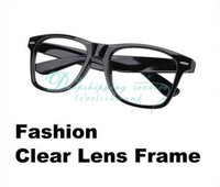 Wholesale Fashion Cool Clear Lens Frame Way farer Nerd Glasses