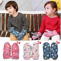 Super quality 1 pair Fashion Winter Baby Children Gloves, Girl/BOY Kids Warm Ski Gloves, child male female gloves  Mittens