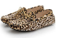 New 2014 fashion summer leopard print Moccasins, brown + grey color gommino leisure men's shoes men loafers male flat shoes 2358