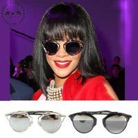 2014 Newest Cat Eye Sunglasses Alloy Frame High Quality Big Star Rihanna style very cool oculos de sol free shipping