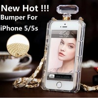 hot Top Little black dress Perfume bottles Bumper For iphone 5 5s Cover Anti knock case Cell Phone cover Free shipping