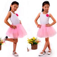 1pc Retail Free Shipping Free Size Ballet Skirt Girl Dance Tutu Skirt 3 Layered Tulle Soft Fluffy Pettiskirts Skirts