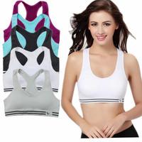 Womens Sexy Yoga Workout Tank Top Stretch Seamless Racerback Fitness Sports Bra Vest Athletics Bras Tanks