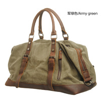new arrival large capacity handbag cross-body shoulder bags, men canvas&cow leather patchwork  luggage duffel travel bag