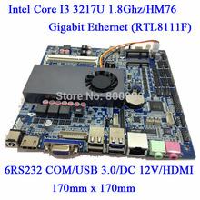 Intel Core I3 3217U Slim MINI ITX motherboard with LVDS Interface LPT amplifier HDMI VGA HM76 NM70 Chipset HDGraphics 4000 6COM(China (Mainland))