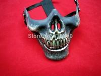 Skull mask   half face mask of terror free shipping