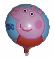 "Balloon Birthday Party Decoration peppa pig balloon  Baby Kids Cartoon Balloons Gift  10pcs/lot  18"""