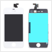 Free Shipping Touch Screen Digitizer Replacement+ LCD Dispaly Screen Assembly for iphone 4 (white)