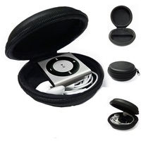 MP3 Player Case, Clamshell For IPod Shuffle 2nd / 3rd / 4th / 5th/6 Gen Carry Case  With Zip Enclosure FREE SHIPPING