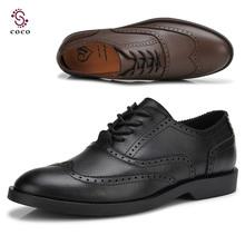 British style Brand Classic men's Oxfords shoes mens Dress Business shoes flats 100% genuine leather shoes british style shoes(China (Mainland))