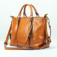 2014 new Brand bag ladies leather handbag fashion single shoulder bag girl leisure women Burnished messenger bag free shipping