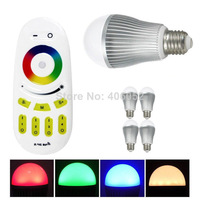 dimmale and Color Changing AC85-265V E27 9W Wifi RGBW LED Bulb Lights with controller   (4pcs led bulb +1x controller)